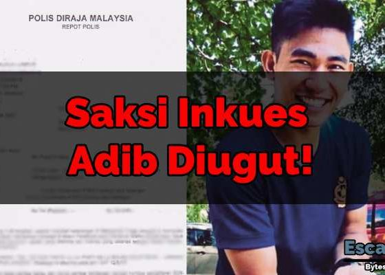Saksi Inkues Adib Diugut